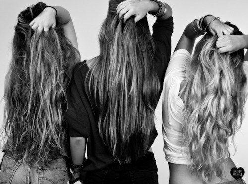 Long beautiful hair...