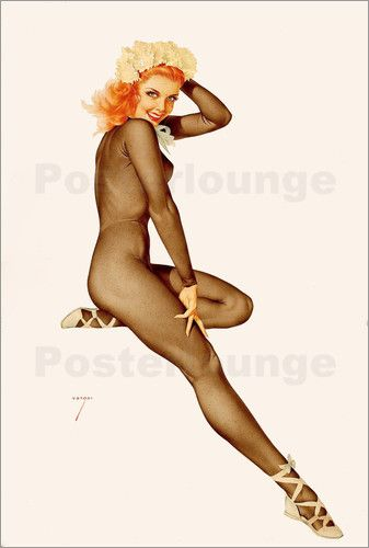 alberto vargas - Poster Sitting Pretty, February Pin Up, 1948