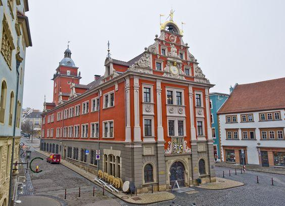 Das historische Rathaus in Gotha. Foto: Peter Riecke