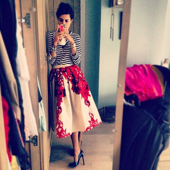 Leandra that skirt is fairly epic. bit of Tibi with your Comme des Garçons.... what a good idea. #LeandraMedine #TheManRepeller