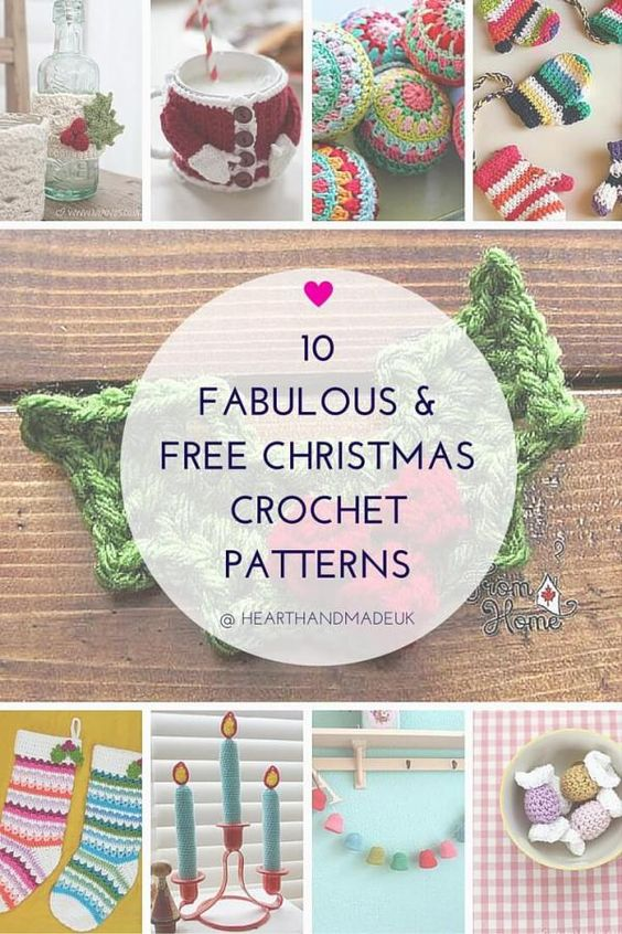10 Fabulous and Free Christmas Crochet Patterns | Natal, Patrones y ...