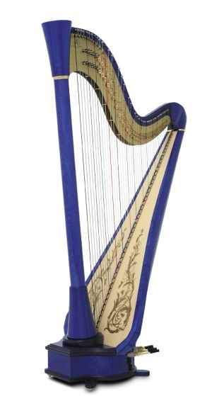 Since its introduction in 1985, the Blue Series has gained worldwide acclaim.  Originally conceived for the jazz and pop scenes, the Blue Series is appropriate for any musical venue.  With a built in pick-up for every string, the Blue is the ultimate choice for an amplified harp.: