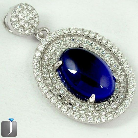 Ravishing silver pendant looking fabulous festooned with appealing Blue Sapphire and white Topaz gemstones..!! #jewelexi #silverring #ring