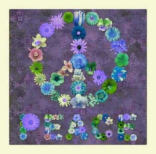 â® American Hippie Art â® Flower Peace Sign
