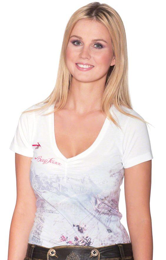 Trachten T-Shirt - Crystal - weiß