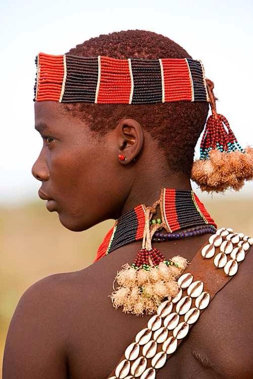 allakinwande:  Africa | Young girl of the Thamay tribe, Omo River Vally, Ethiopia | © Jim Zuckerman