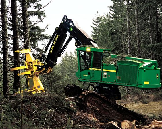 Tree Harvester Parts : These actually exist a john deere tree harvester