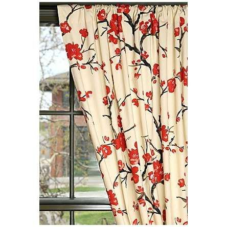 red cherry blossom curtains - urbanoutfitters - desperately want these  curtains for my laundry room but