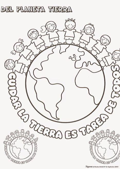 Pin De Ivetka En Ediba Planeta Tierra Para Colorear Dia Mundial Del Medio Ambiente Actividades Del Dia De La Tierra