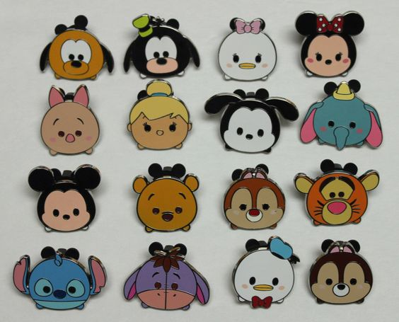 SO FRIGGIN CUTE!!! Complete Disney 2015 Set 16 TSUM TSUM Characters Mystery Trading Pins!: