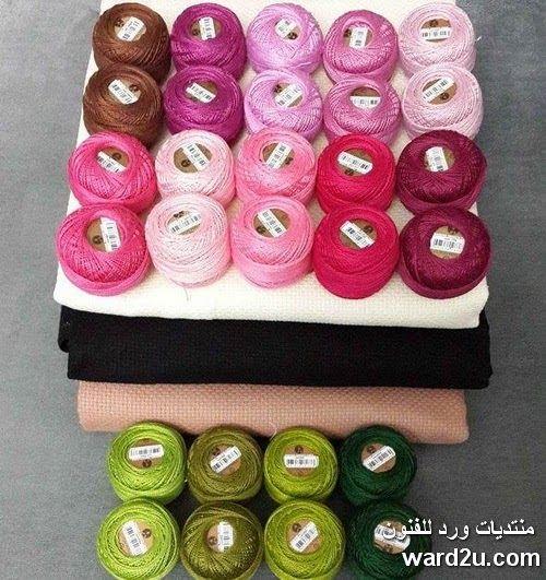 تطريز طيور على اغصان الورد Embroidery Desserts Handicraft