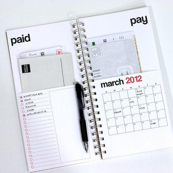 bills calendar  #2012 #calendar
