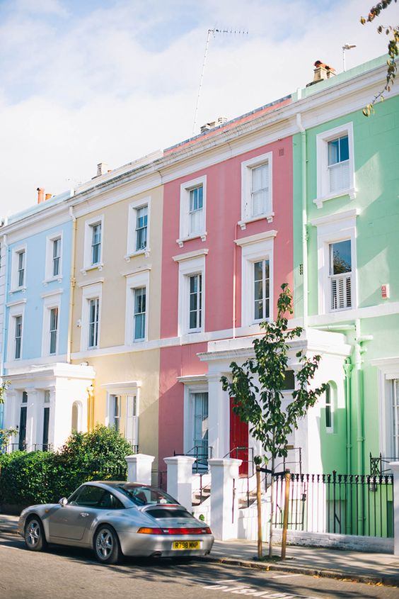 Notting Hill, London | The Style Scribe  I love these houses and the ones you can find running the street near the Portabella market. Love Love