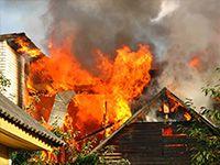 Пожар в Бердянске. В Бердянске во время пожара погиб 57-летний мужчина