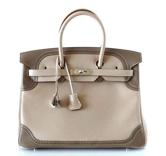 brown hermes handbag birkin 35cm leather tote bag