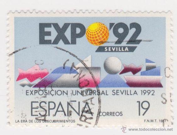 SELLO ESPAÑA 1987 EXPO SEVILLA 92 USADO EDIFIL Nº 2875