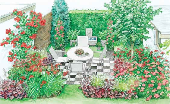 Attraktiver Mini-Garten Kleine gärten, Zufrieden geben und keine - kleine garten gestalten bilder