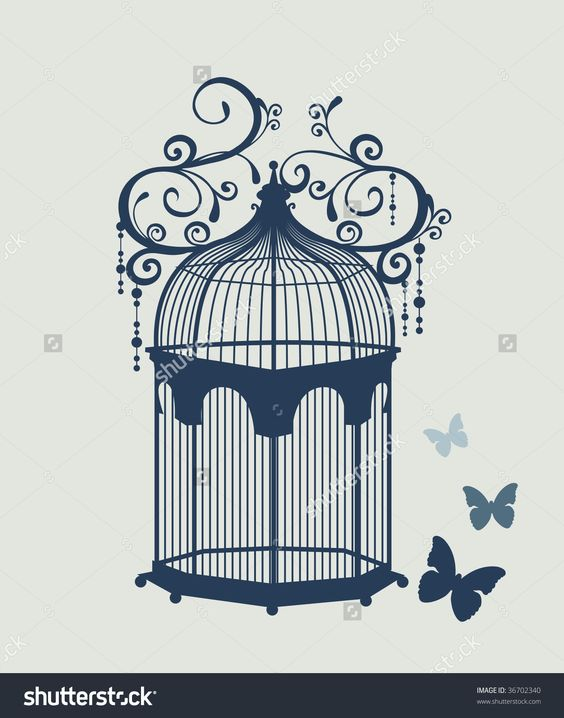 stock-vector-beautiful-vintage-birdcage-and-butterfly-36702340.jpg 1256 ×…