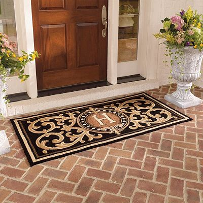 berkeley monogrammed front door mat home sweet home. Black Bedroom Furniture Sets. Home Design Ideas