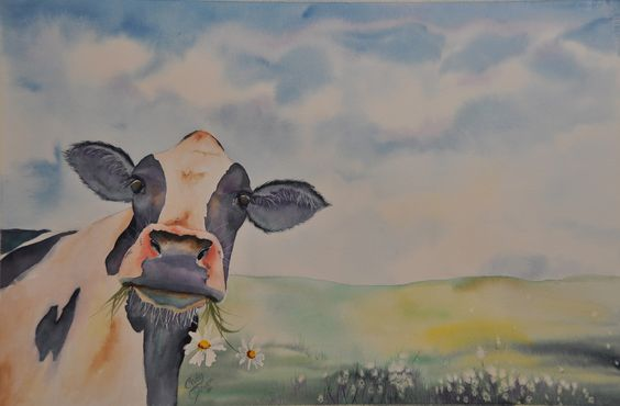 Cady Driver's watercolor animals - Fine Art by Cady Driver