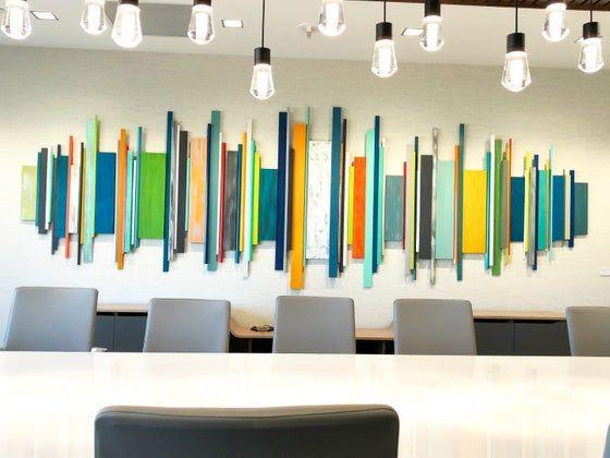 Stick Together Modern Art Wood Wall Stick Sculpture Wood