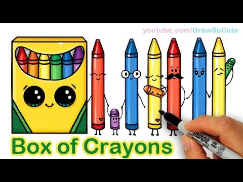 how to draw a cartoon box of crayons cute and easy kids fun stuff pinterest crayons cartoon and drawings - Cartoon Pictures Of Crayons