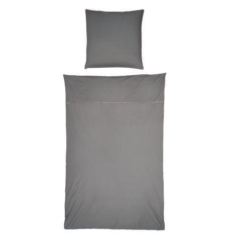 Bettwäsche, Reißverschluss, Ziernaht Vorderansicht
