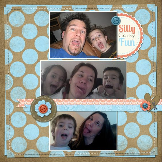 Silly layout using our Spring Blossoms Collection and Add on