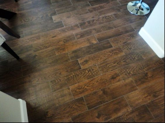 Faux wood tile floors flooring pinterest faux wood for Simulated wood flooring