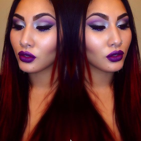 "Purple galore💜 Melt Cosmetics lipStick in ""starlight"" #obsessed #meltcosmetics…"