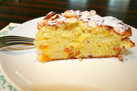 Italian Pine Nut and Apricot Cake