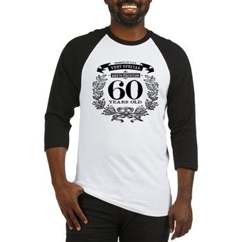 60th birthday vintage design Baseball Jersey