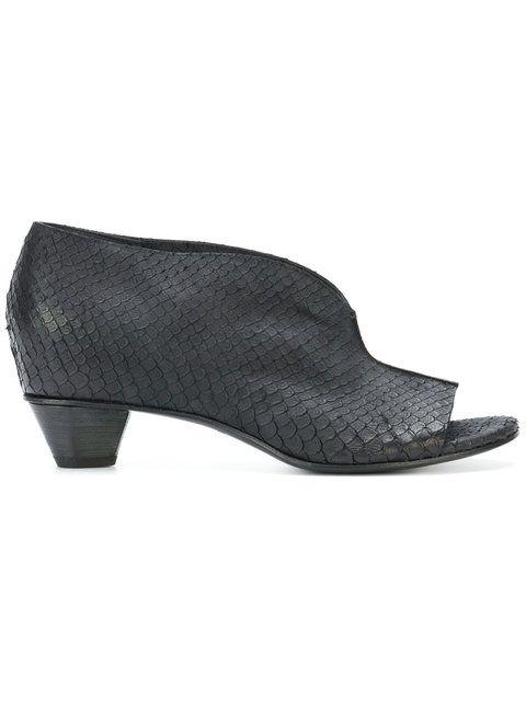 ROBERTO DEL CARLO Embossed open toe boot style sandals F92xxLp8l