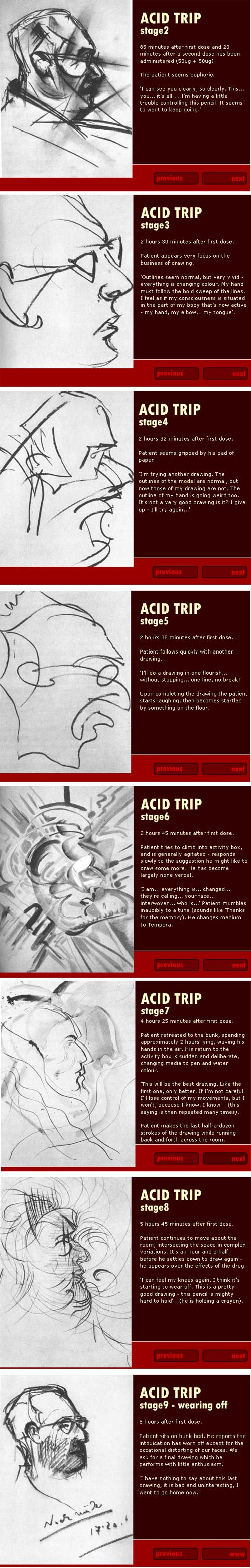 9 stages of an acid trip. Interesting.
