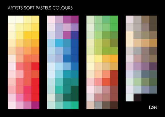 ARTISTS SOFT PASTELS COLOURS