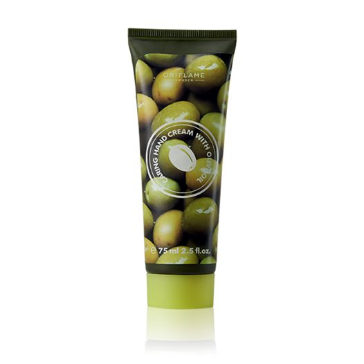 Inspired by nature's best! This rich textured hand cream formulated with Vitamin E rich Olive Oil hydrates, conditions and softens to leave hands feeling smooth and cared for in the best possible way. Delicately scented with soft and feminine olive tree leaves fragrance. 75 ml .