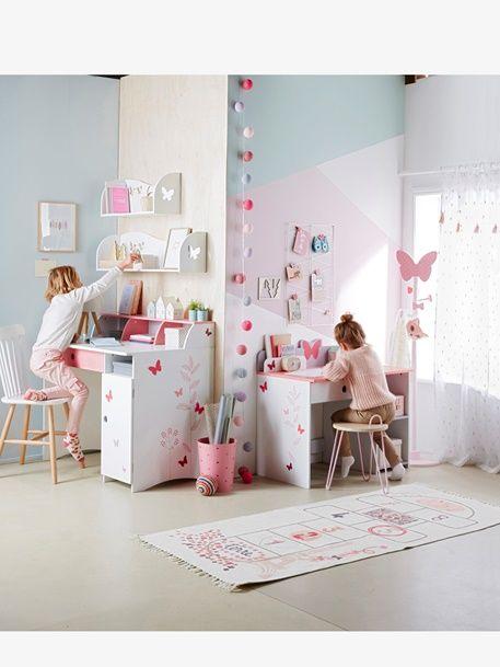 Kinderschreibtisch Mit Schmetterlingen Weiss 5 Kinderzimmer Weiss Kinder Zimmer Kinderzimmer