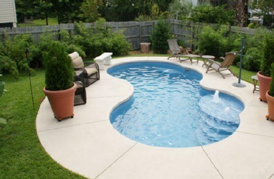 Pinterest the world s catalog of ideas for Above ground fiberglass pool