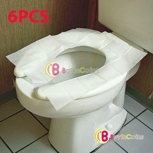 6 Disposable Travel Caming Portable Public WC Toilet Seat Paper ... | THE TOILET  SEAT! | Pinterest