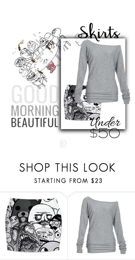 """""""rage comics under $50 skirts"""" by mikaela-foreman ❤ liked on Polyvore featuring Alloy Apparel, under50 and skirtunder50"""