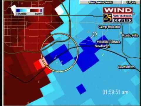 NEWS 25 Evansville/Newburgh/Boonville Tornado Coverage - November 6, 2005