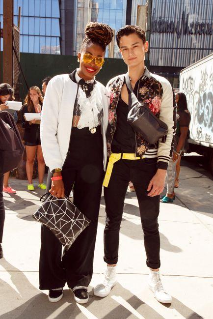 ハイカットスニーカーメンズコーデNew York Men's Fashion Week spring/summer 2020