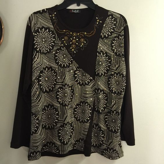 BOGO 50% Sparkly Stretchy Blouse Top Large Pretty top Tops Blouses