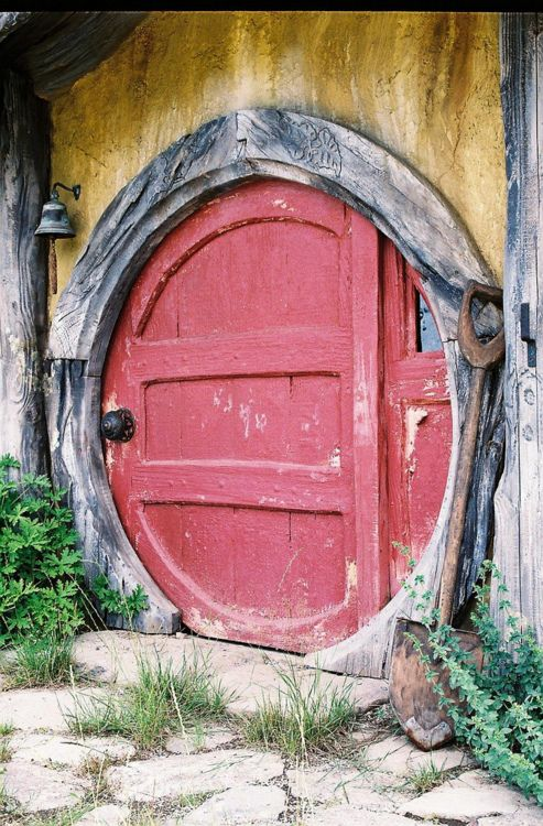 This door has Hobbit written...extremely small on the underside of the lower board. If only I could actually get that close, this door creates so much excitement about what lies within the walls. The circle is unexpected, yet the wear of the wood evokes a feeling of nostalgia, perhaps for that of the world of whim and fantasy I grew up seeking.