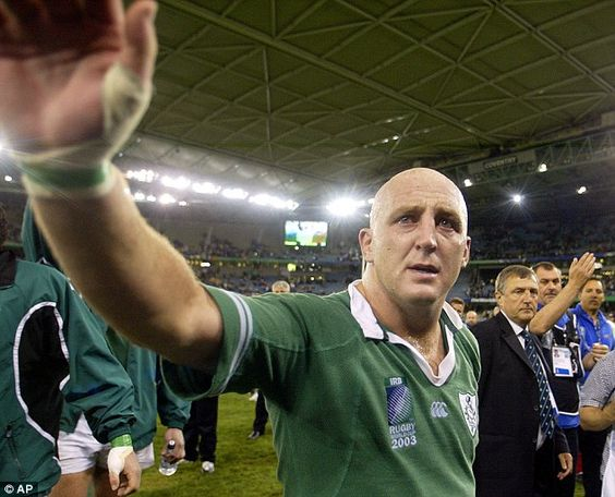Farewell: An emotional Wood after Ireland bow out of the 2003 Rugby World Cup at the quarter-final stage