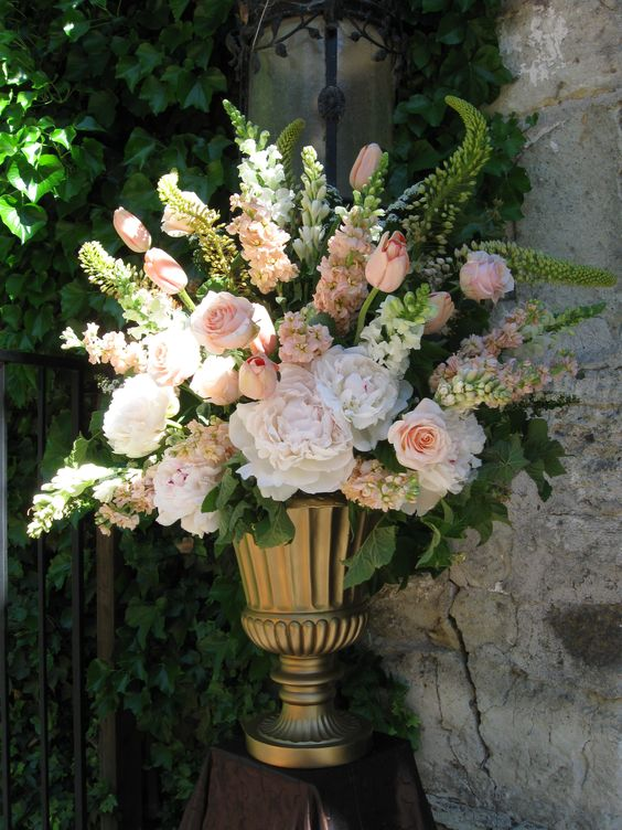 flower arrangements for wedding pink peonies peonies and tulip on 4125