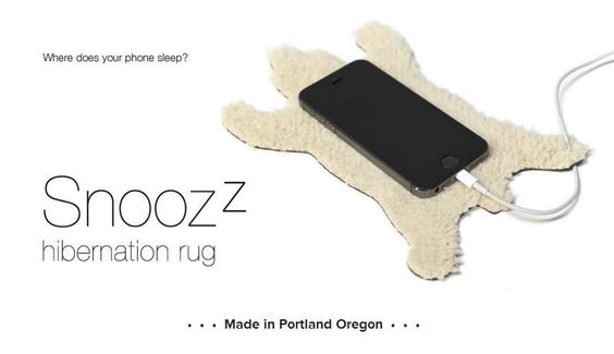 The Snoozz smartphone rest. Where does your phone sleep? Designed by Zoe Blatter for Revolution Design House