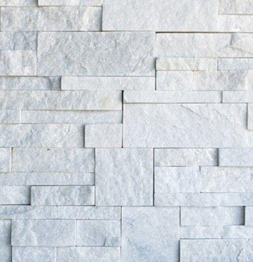 Snow White Quartzite Ledge Stone Wall Panel Wall Cladding Stone Walls Interior White Quartzite