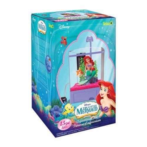 Creative mermaids and walmart on pinterest for Little mermaid fish tank decor