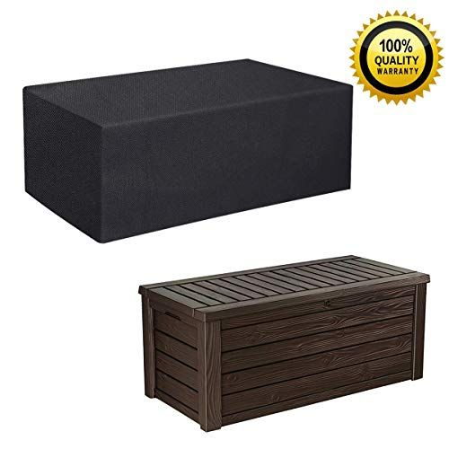 Tepsmigo 600d All Weather Extra Large Patio Outdoor Pool Https Www Amazon Com Dp B07n6bkg5f Ref Cm Sw R Pi Dp Deck Box Covered Boxes Outdoor Storage Box